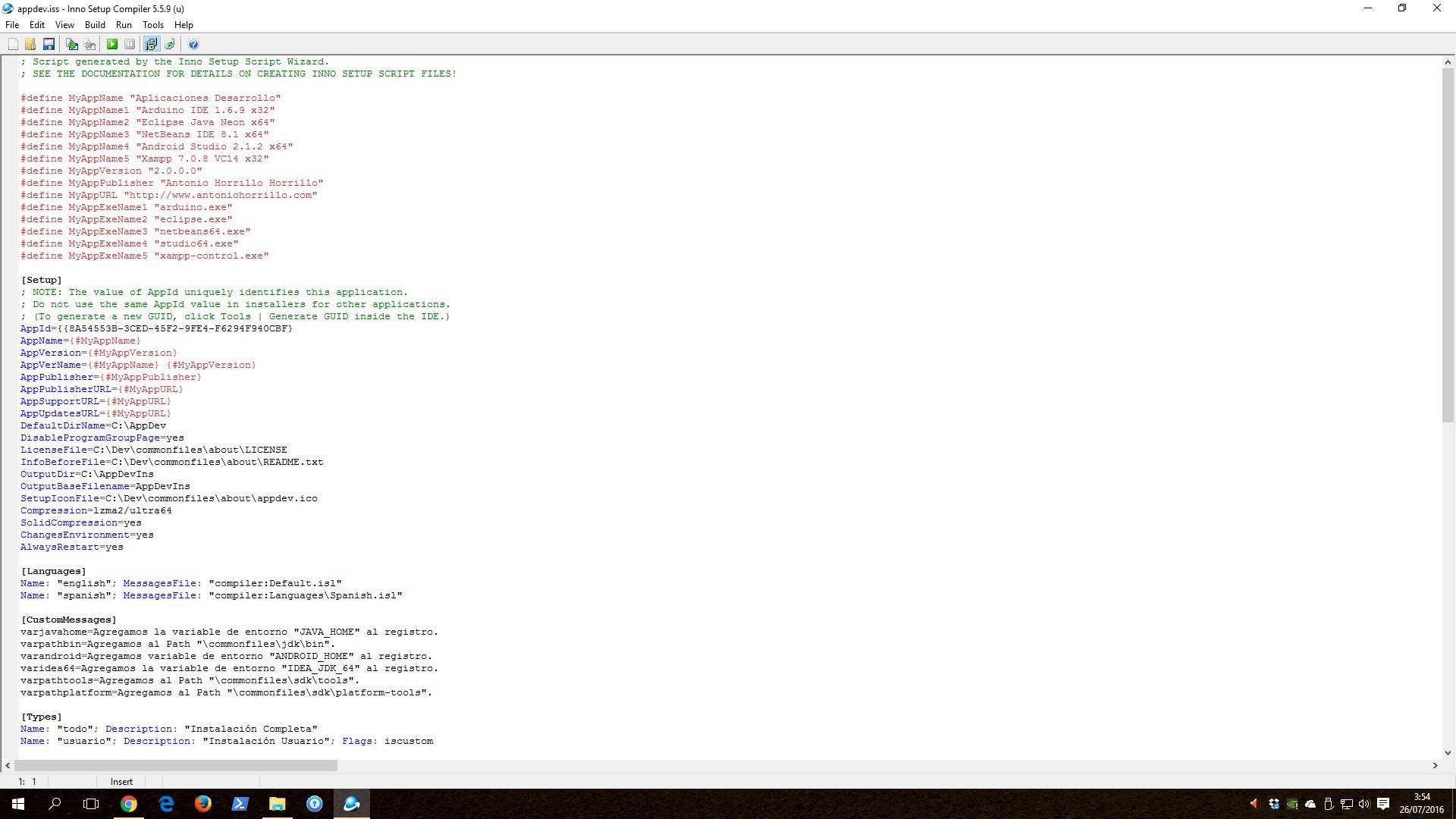 Aplicaciones de Desarrollo (AppDev).