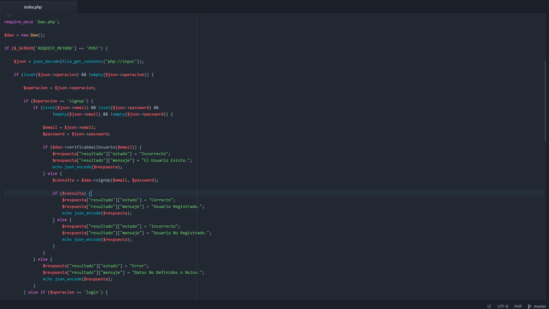Servicio Web RESTful para app android DevAge basado en Php, MySql y Json.
