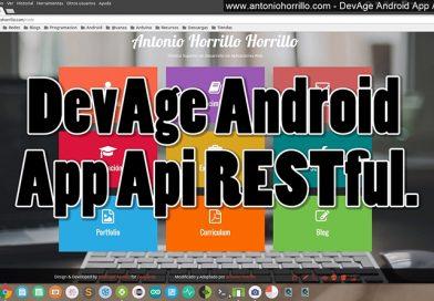 DevAge Android App Api RESTful. Curso de Perfeccionamiento Android. EII UEX.
