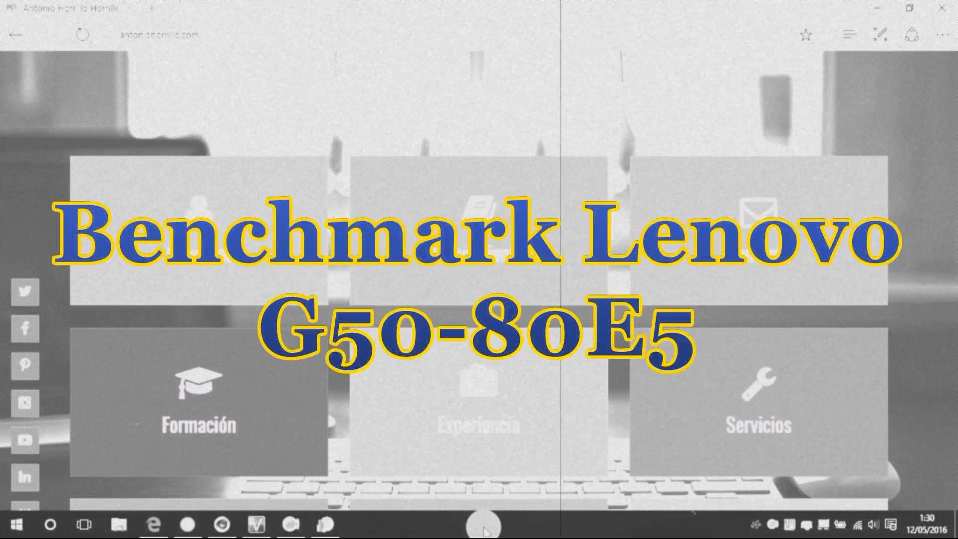 Benchmark Lenovo G50-80E5.