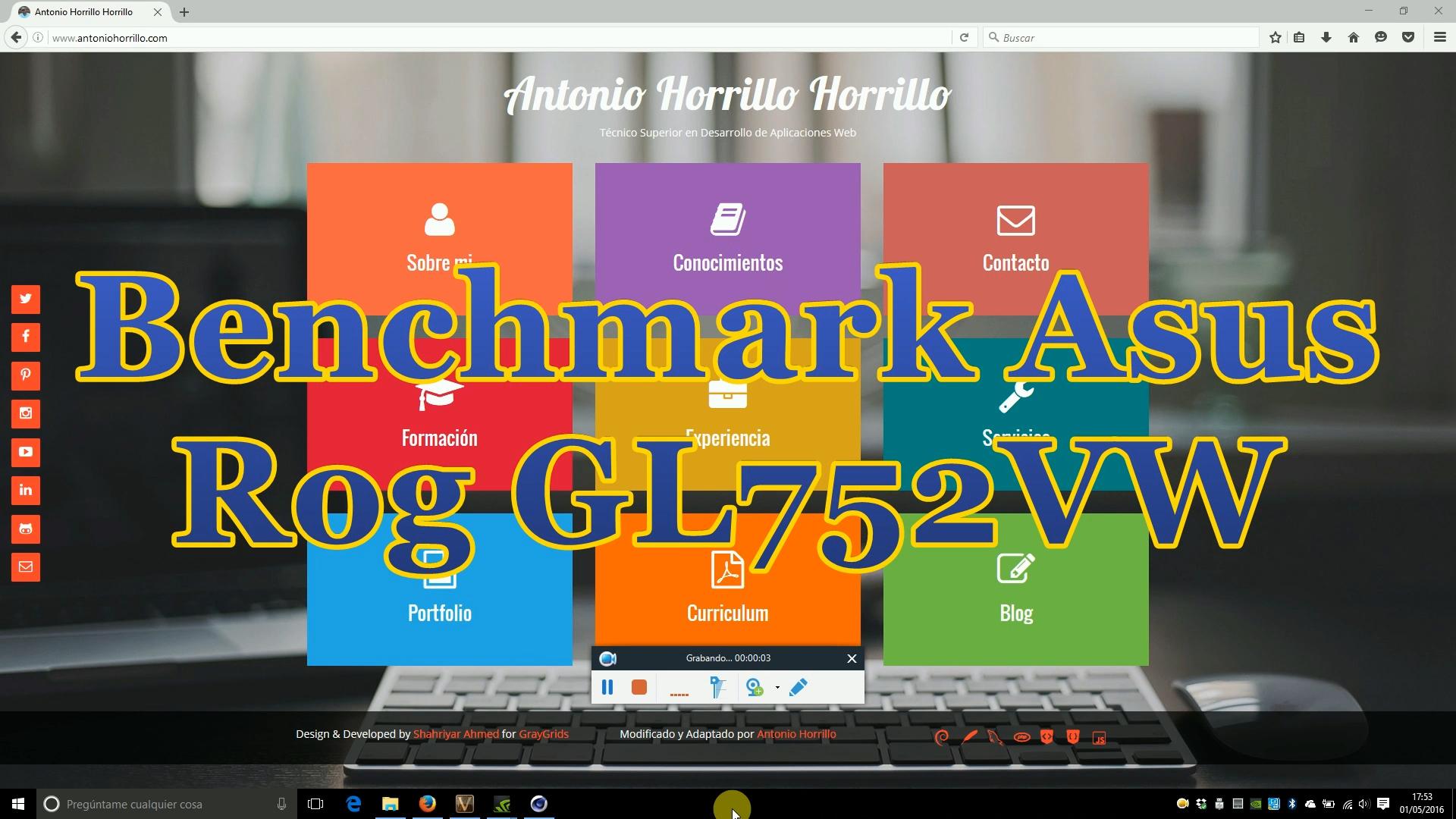 Benchmark Asus Rog GL752VW.
