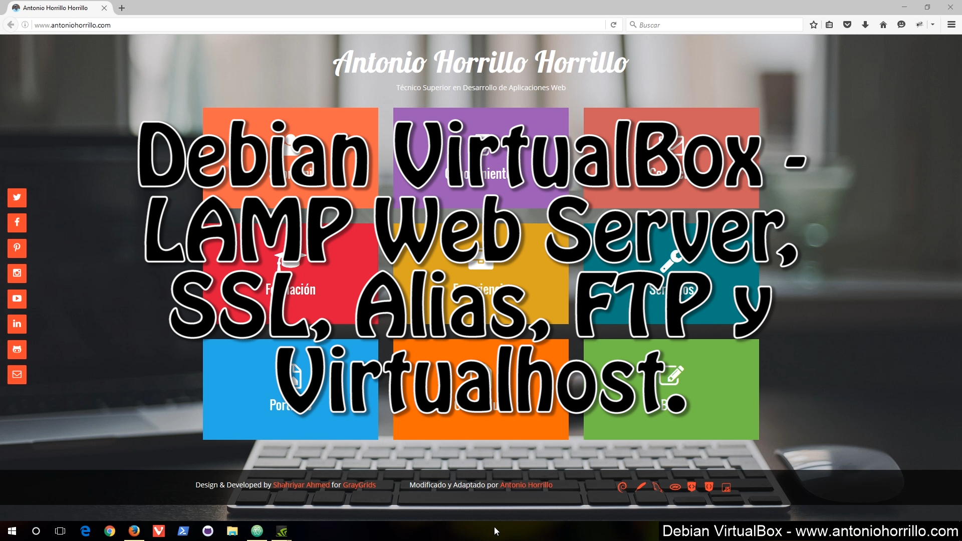 Debian VirtualBox - LAMP Web Server, SSL, Alias, FTP y Virtualhost.