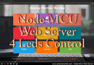 Node MCU 1.0 (ESP-12E) (ESP8266) Web Server 4 Leds Control.