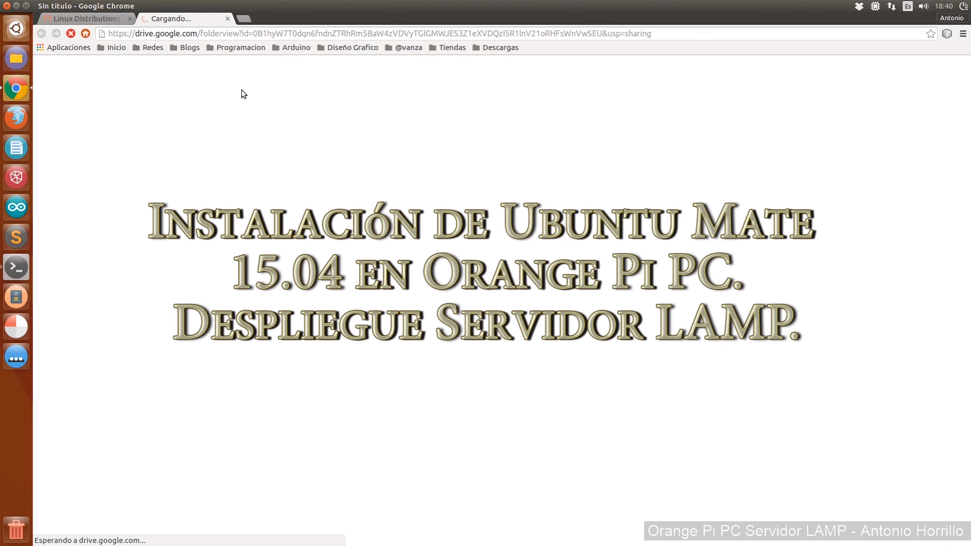 Instalación Ubuntu Mate 15.04 Orange Pi PC. Despliegue servidor LAMP.