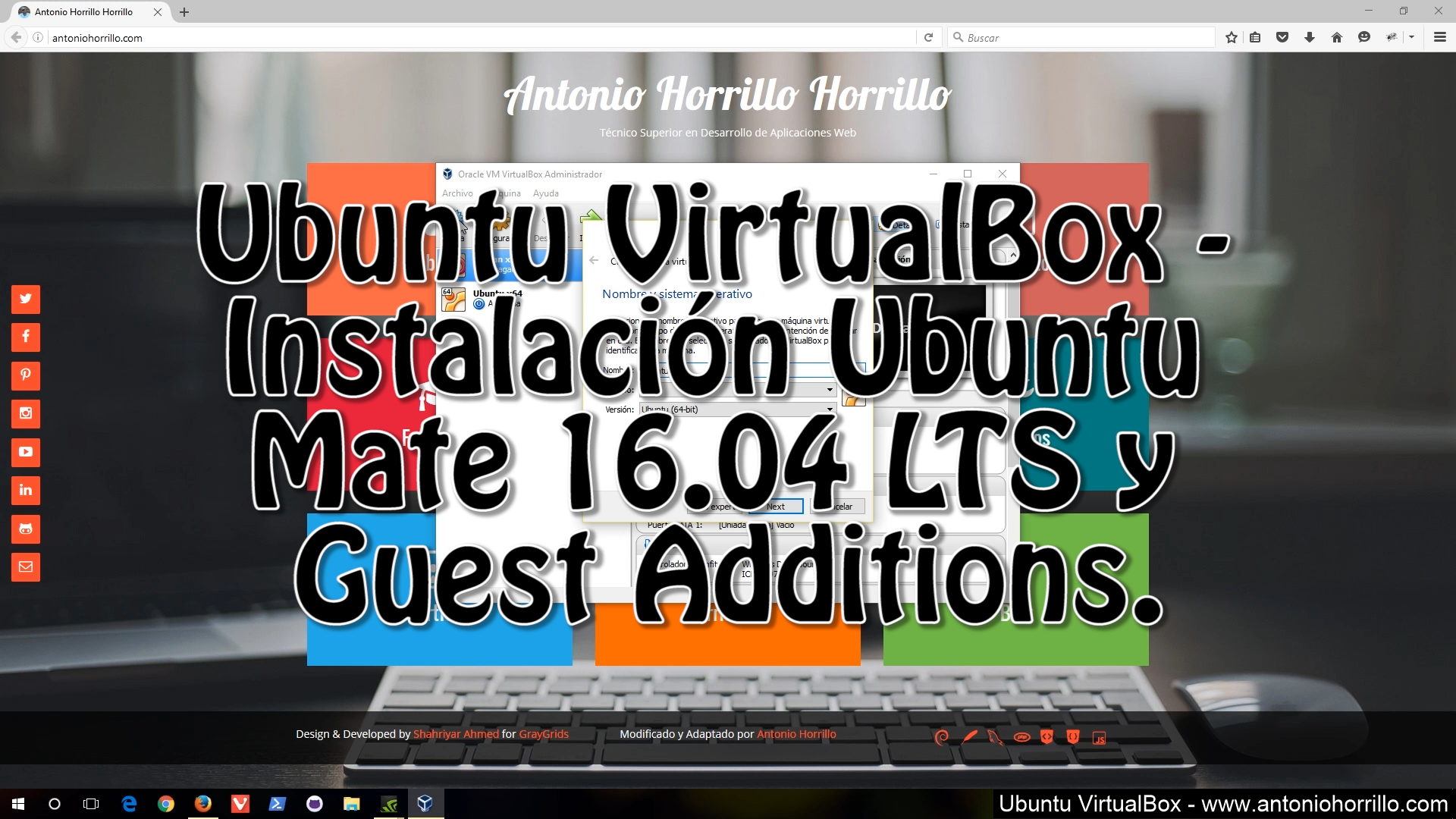 Ubuntu VirtualBox - Instalación Ubuntu Mate 16.04 LTS y Guest Additions.