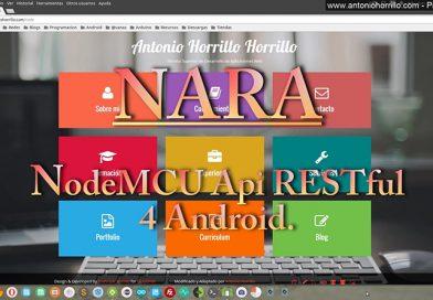 Nodemcu esp8266 api RESTful 4 Android Proyect Nara.